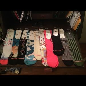 Women's stance sock bundle. Sz medium.